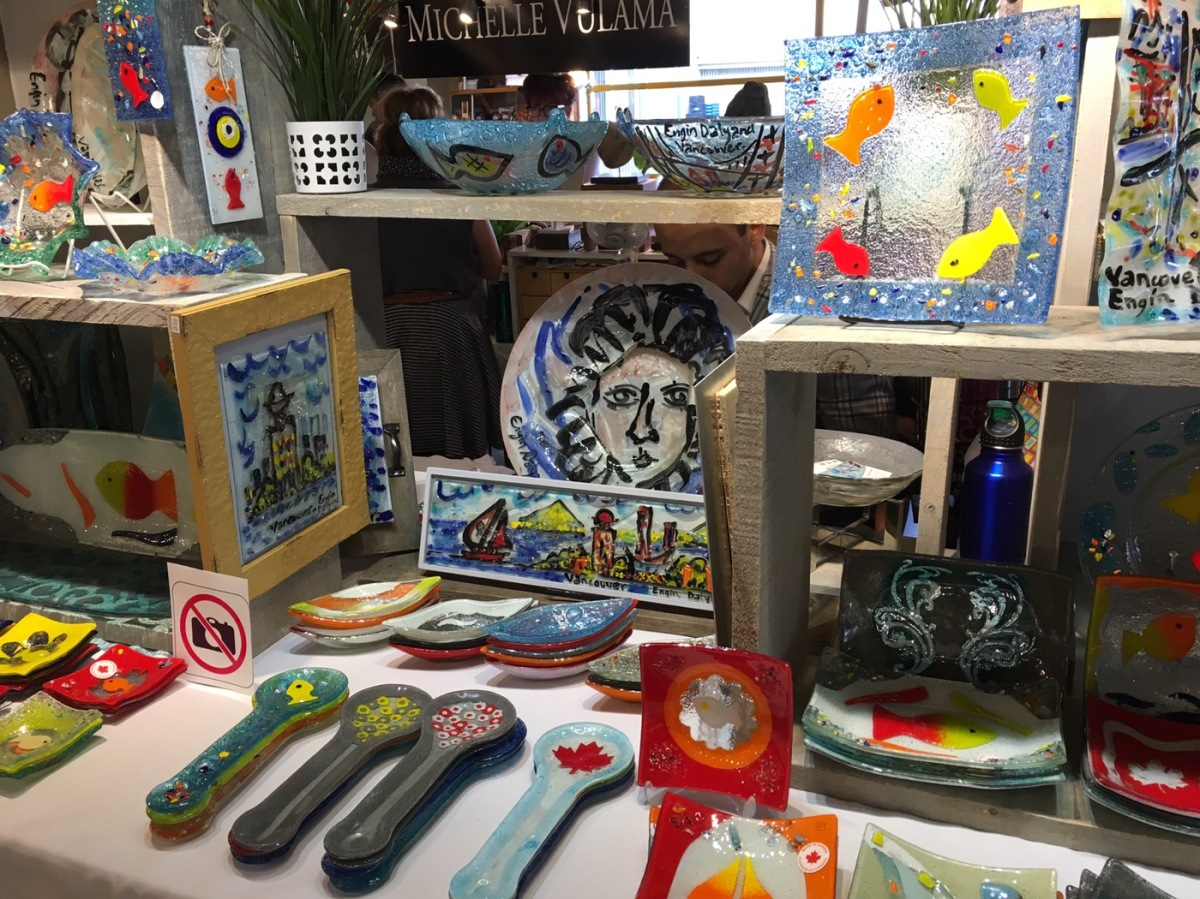artisan glass stand -Grandville Island