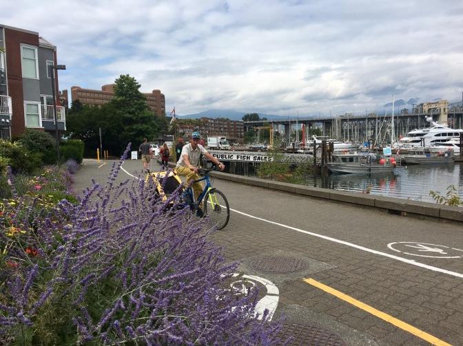 bike on seawall