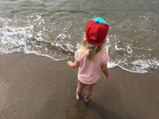 little girl on the beach