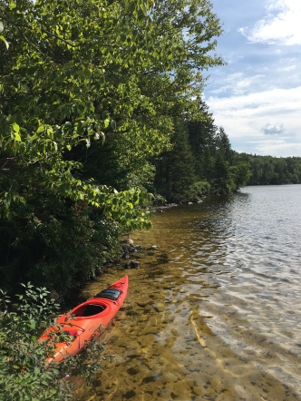 Peace and serenity on the paddle to Lac aux Chiens
