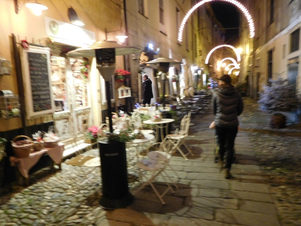 Finalborgo by night - all lit up for the holidays